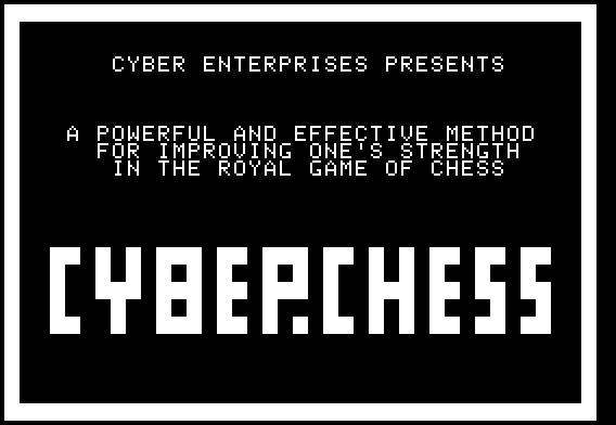 CyberChess for Apple II - Screenshot